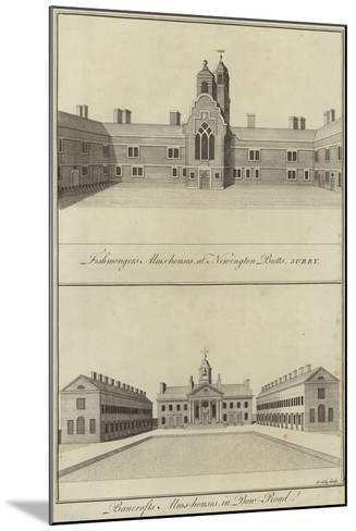 Fishmongers' Almshouses, Newington Butts and Bancroft's Almshouses, Bow Road, London--Mounted Giclee Print