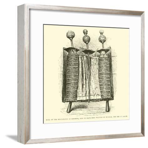 Roll of the Pentateuch at Shechem, Said to Have Been Written by Eleazar, the Son of Aaron--Framed Art Print