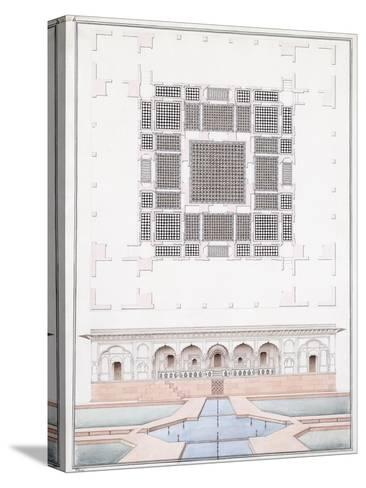 Elevation of the South Front and Garden Palace of the Suraj Bhawan at Dig, C.1830--Stretched Canvas Print