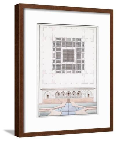 Elevation of the South Front and Garden Palace of the Suraj Bhawan at Dig, C.1830--Framed Art Print