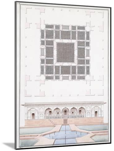 Elevation of the South Front and Garden Palace of the Suraj Bhawan at Dig, C.1830--Mounted Giclee Print