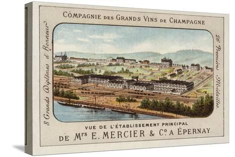 Principal Establishment of E Mercier and Co, Champagne Producers, Epernay, France--Stretched Canvas Print
