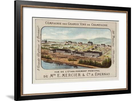 Principal Establishment of E Mercier and Co, Champagne Producers, Epernay, France--Framed Art Print