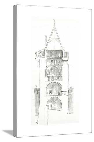 Drawing from 'Dictionnaire Raisonn? De L'Architecture Fran?aise Du XIe Au XVIe Si?cle', 1861--Stretched Canvas Print