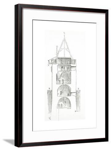 Drawing from 'Dictionnaire Raisonn? De L'Architecture Fran?aise Du XIe Au XVIe Si?cle', 1861--Framed Art Print