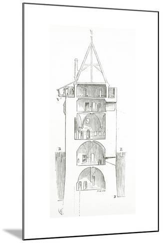 Drawing from 'Dictionnaire Raisonn? De L'Architecture Fran?aise Du XIe Au XVIe Si?cle', 1861--Mounted Giclee Print