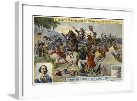 Johan Baner Surprises the Army of the Holy Roman Empire in Camp, Near Wittstock, Germany, 1636--Framed Art Print