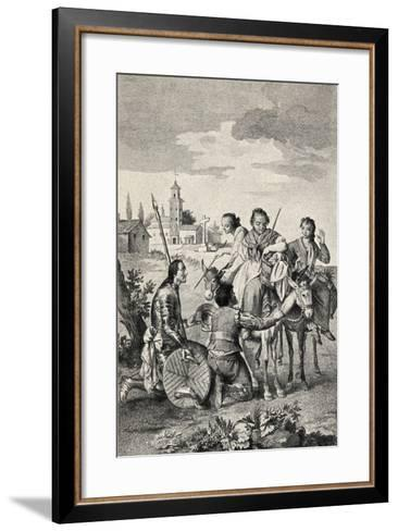 Don Quixote and Dulcinea, from 'The Garden Arbour Family Journal', Published 1905--Framed Art Print