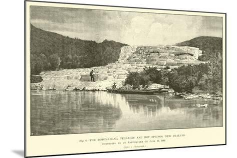 The Rotomahana Terraces and Hot Springs, New Zealand, Destroyed by an Earthquake on 10 June 1886--Mounted Giclee Print