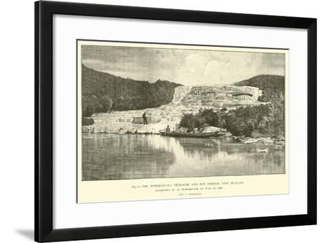 The Rotomahana Terraces and Hot Springs, New Zealand, Destroyed by an Earthquake on 10 June 1886--Framed Art Print