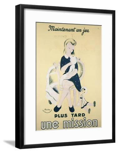 Today a Game, Later a Mission', Propaganda Poster of the Vichy Government, 1940-44--Framed Art Print