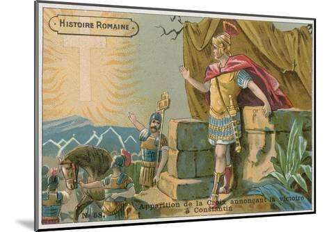 Apparition of the Cross Announcing Victory to Constantine at the Battle of Milvian Bridge, 312--Mounted Giclee Print