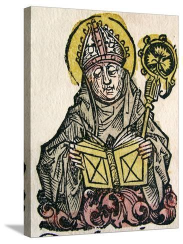 Edmund Rich, the Archbishop of Canterbury, Published in the Nuremberg Chronicle, 1493--Stretched Canvas Print