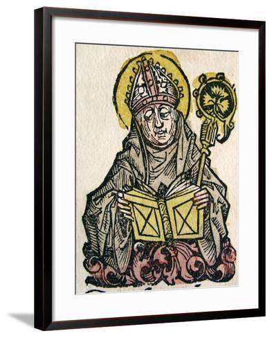 Edmund Rich, the Archbishop of Canterbury, Published in the Nuremberg Chronicle, 1493--Framed Art Print