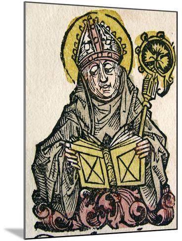 Edmund Rich, the Archbishop of Canterbury, Published in the Nuremberg Chronicle, 1493--Mounted Giclee Print
