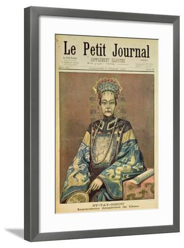 Sy-Tay-Heou, Empress of China, Title Page from 'Le Petit Journal', 8 July 1900--Framed Art Print
