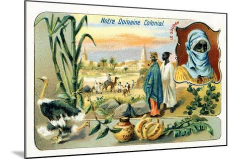 French Sudan, from a Series of Collecting Cards Depicting the Colonial Domain of France, C.1910--Mounted Giclee Print