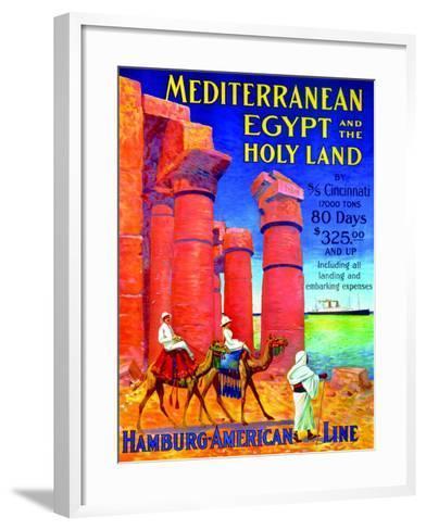 Mediterranean, Egypt and the Holy Land', Poster Advertising the Hamburg American Line, 1909--Framed Art Print
