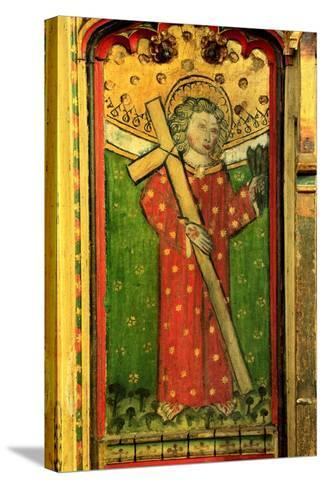 Detail of a Rood Screen Depicting William of Norwich, Church of St Peter and St Paul, Eye, Suffolk--Stretched Canvas Print