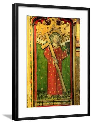 Detail of a Rood Screen Depicting William of Norwich, Church of St Peter and St Paul, Eye, Suffolk--Framed Art Print