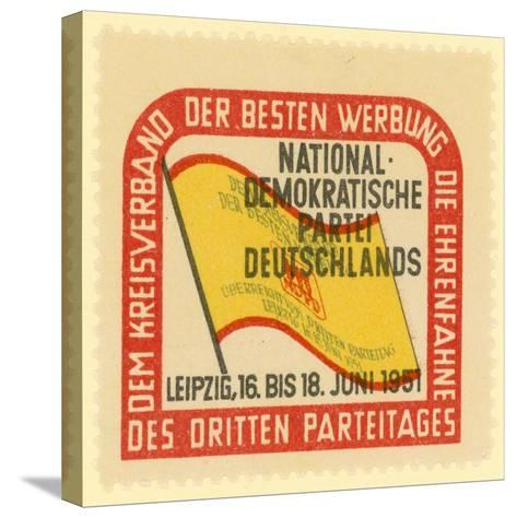 Third Party Conference of the National Democratic Party of Germany, Leipzig, East Germany, 1951--Stretched Canvas Print