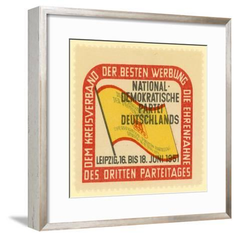 Third Party Conference of the National Democratic Party of Germany, Leipzig, East Germany, 1951--Framed Art Print