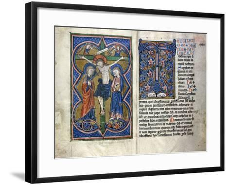 Two Pages from a Thirteenth Century Missale in Latin, from the Middle Rhine Region, C.1250-1300--Framed Art Print