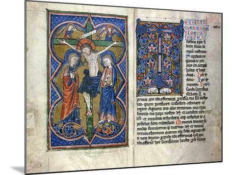 Two Pages from a Thirteenth Century Missale in Latin, from the Middle Rhine Region, C.1250-1300--Mounted Giclee Print