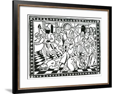 """Title Page, Taken from """"Lamento Del Duca Galeazzo Sforza"""" by Giovanni Andrea De Lampugno, 1476--Framed Art Print"""