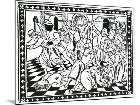 """Title Page, Taken from """"Lamento Del Duca Galeazzo Sforza"""" by Giovanni Andrea De Lampugno, 1476--Mounted Giclee Print"""