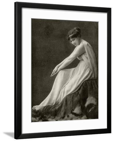Mary Anderson, from 'A Few More Memories' by Mary Anderson De Navarro, Published in London in 1936--Framed Art Print