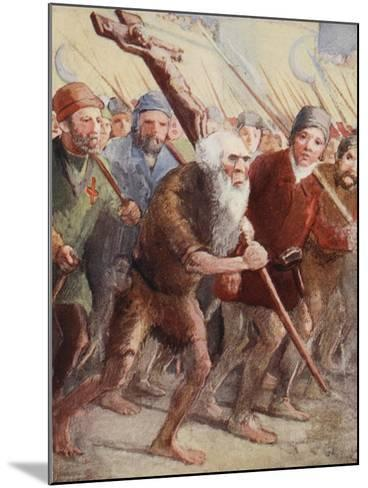 Peter the Hermit Setting Out before the Army Was Ready with His Followers and Walter the Penniless--Mounted Giclee Print