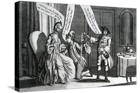 A Certain Personage in the Character of a Fool as He Perform'D it at Whitchurch and Elsewhere, 1770--Stretched Canvas Print