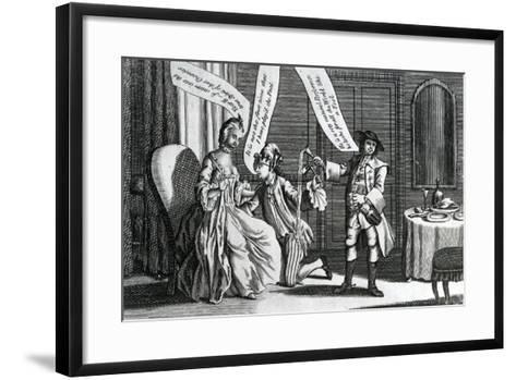 A Certain Personage in the Character of a Fool as He Perform'D it at Whitchurch and Elsewhere, 1770--Framed Art Print
