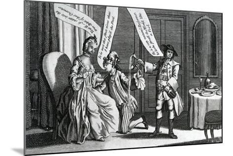 A Certain Personage in the Character of a Fool as He Perform'D it at Whitchurch and Elsewhere, 1770--Mounted Giclee Print
