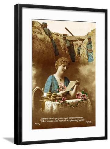 """Good Soldier, Whom I Love, to Reward You I Am Sending You This Flower..."", 1916--Framed Art Print"