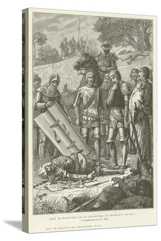 Jean De Montfort Discovering the Body of Charles of Blois after the Battle of Auray, 1364--Stretched Canvas Print