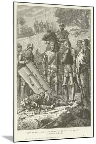 Jean De Montfort Discovering the Body of Charles of Blois after the Battle of Auray, 1364--Mounted Giclee Print
