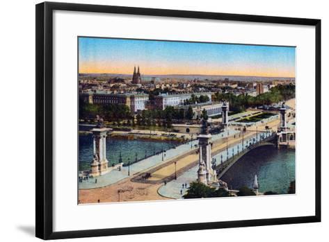 Bridge Alexander Iii, from 'Souvenirs De Paris - Monuments Vues En Couleurs'--Framed Art Print