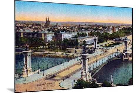 Bridge Alexander Iii, from 'Souvenirs De Paris - Monuments Vues En Couleurs'--Mounted Giclee Print