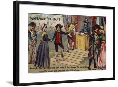 Joseph Barra, French Revolutionary Boy Soldier, Enlisting in the Republican Army--Framed Art Print