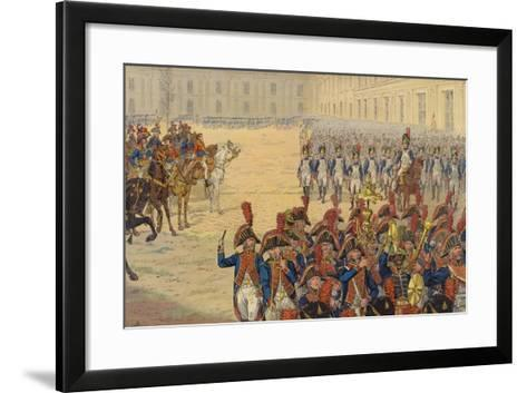 First Review of the Consular Guard on the Parade Ground at the Tuileries Palace--Framed Art Print
