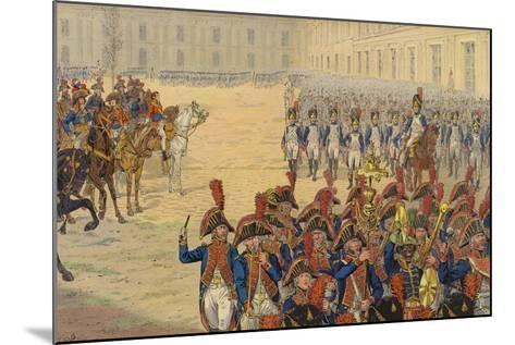 First Review of the Consular Guard on the Parade Ground at the Tuileries Palace--Mounted Giclee Print