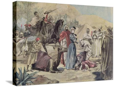 The Marriage of a European Woman to an Arab Chief, from 'Le Petit Journal', 1899--Stretched Canvas Print