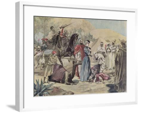 The Marriage of a European Woman to an Arab Chief, from 'Le Petit Journal', 1899--Framed Art Print