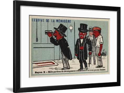 X Rays - a Thousand Apologies for the Disturbance Commissioner, it's Not My Wife--Framed Art Print