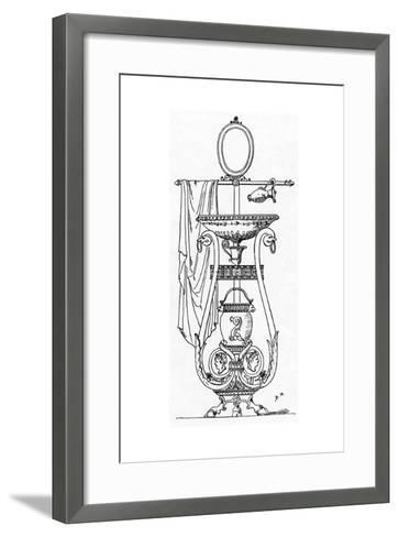 Empire Style Lavabo, Engraving after the Design of Charles Percier, 18th-19th Century--Framed Art Print
