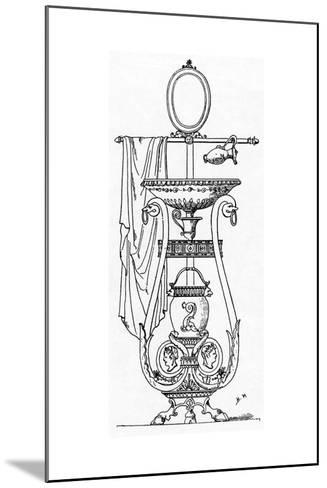 Empire Style Lavabo, Engraving after the Design of Charles Percier, 18th-19th Century--Mounted Giclee Print