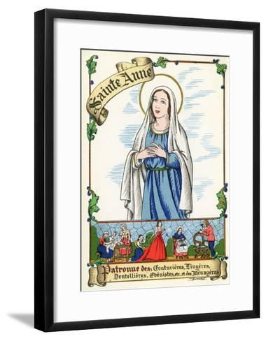 Saint Anne, Patron of Couturiers, Dressmakers, Lace Makers, Cabinet Makers and Home Makers, C.1910--Framed Art Print