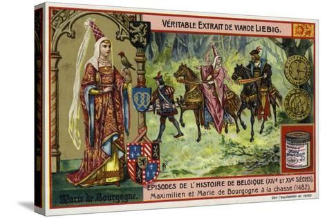 Mary of Burgundy and Her Husband, Archduke Maximilian of Austria, Hunting, 1482--Stretched Canvas Print